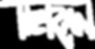 Tieran Text Logo in White