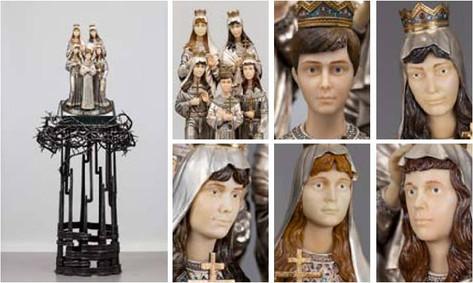 Скульптура из полудрагоценных камней «Царские дети»