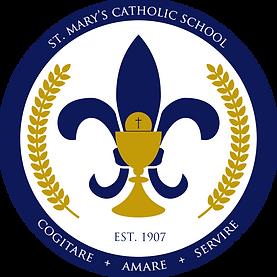 StMarysLawton_Logo-Latin White inside.pn