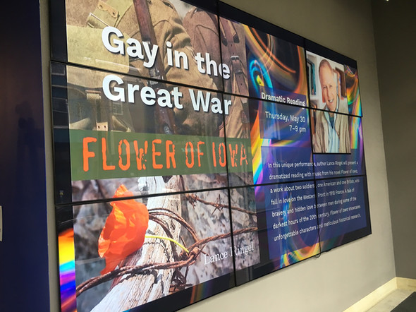 A reading of Flower of Iowa highlights coming attractions at the GLBT Historical Society in San Francisco.