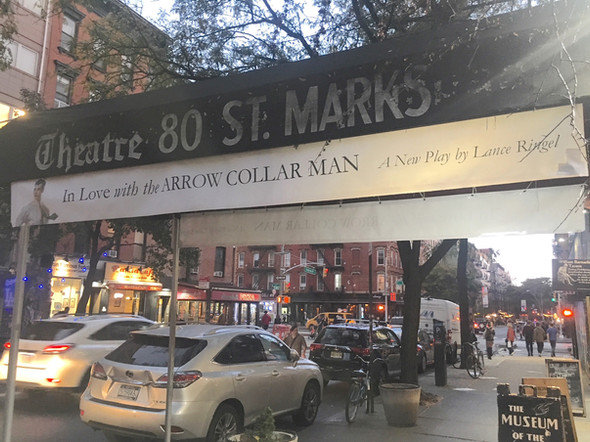 In Love with the Arrow Collar Man had a successful run at Theatre 80 St. Marks in New York's East Village.