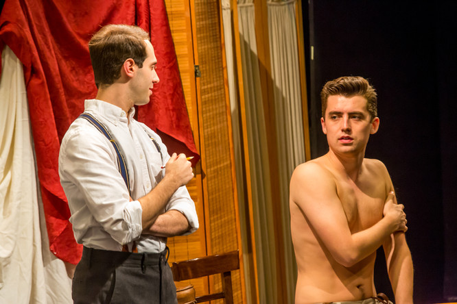 Ian Brodsky as Joe Leyendecker and JD Martin as Charles Beach in the Theatre 80 St. Marks production of In Love with the Arrow Collar Man. Photo: Caylena Cahill