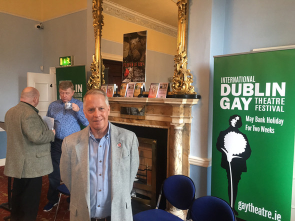 Lance Ringel prior to a reading of Flower of Iowa that kicked off the International Dublin Gay Theatre Festival in Ireland.