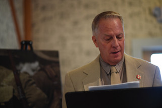 Novelist Lance Ringel reads from his book, Flower of Iowa.  Photo: Camilo Rojas