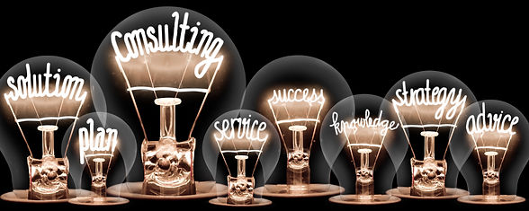 Photo of light bulbs with shining fibers