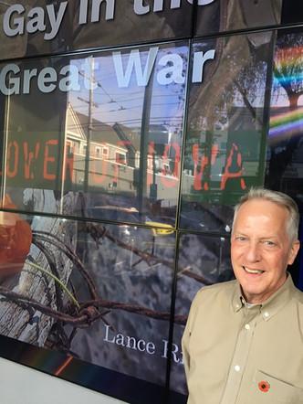 Lance Ringel at the GLBT Historical Society in San Francisco.