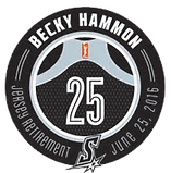 Becky Hammon Retirement Jersey Seal