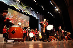 At Home in the World Taiko Drummers