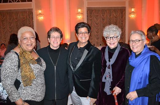 Jewelle Gomez, Diana Sabin, Nancy Bereano, Elisabeth Nonas, Michele Karlsberg