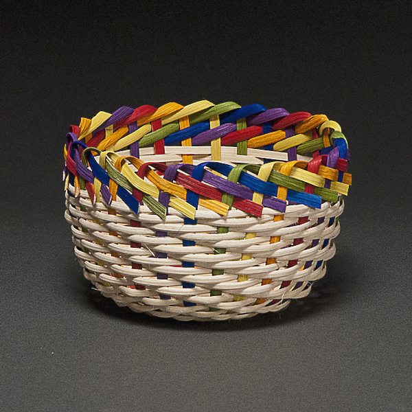 Albrecht-Small Braided Rainbow Basket