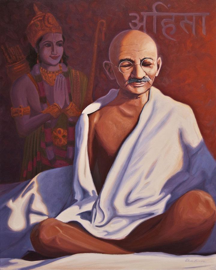 Gandhi in Meditation