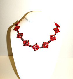 red super duo necklace