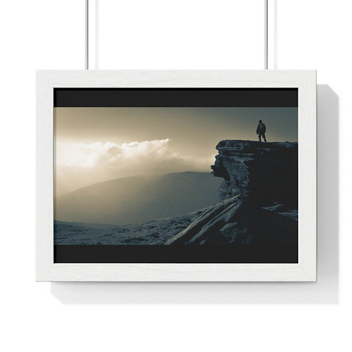 Premium Framed Horizontal Poster 'And Heaven Spoke'