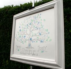 wedding tree side easel