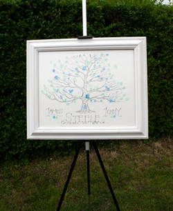 wedding tree easel front