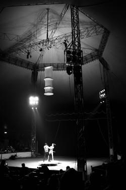 Dancing under light