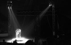 Dancing couple circus