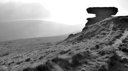 Kinder Scout with distant circular w