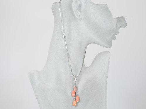 Ciondolo in argento e corallo di Sardegna