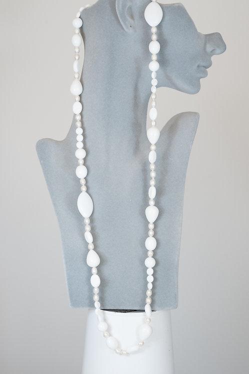 Collana in agate e perle barocche