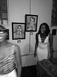 Shonda at first ever art show in 2013.
