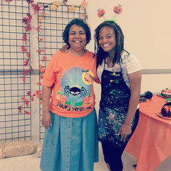 Me and mom #pumpkin #paint #party