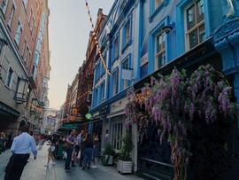 Sunset on Carnby Street, London
