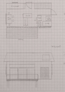 Better but still primitive architectural sketches