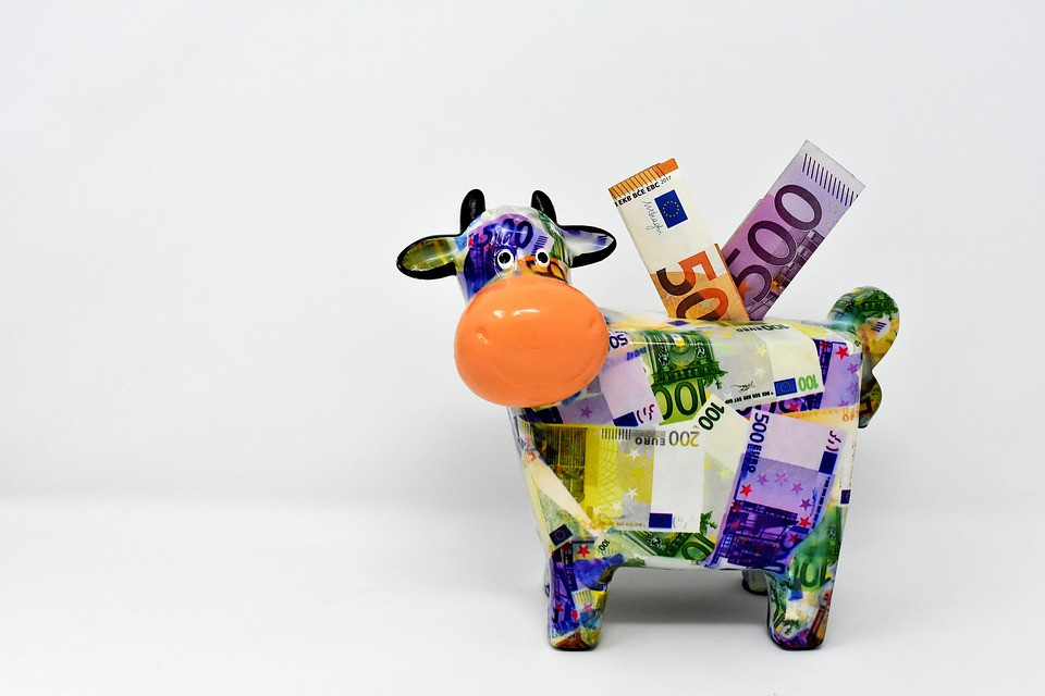 Piggy bank in the shape of a cow