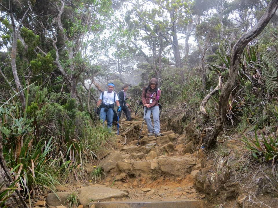 Coming down Mount Kinabalu