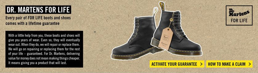 Liftetime guarantee by Doc Martens