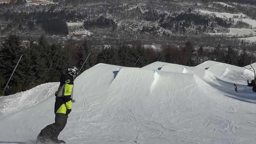 snowboarding terrain park