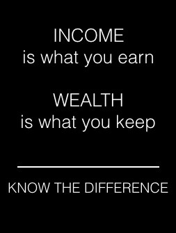 know the difference between income and wealth