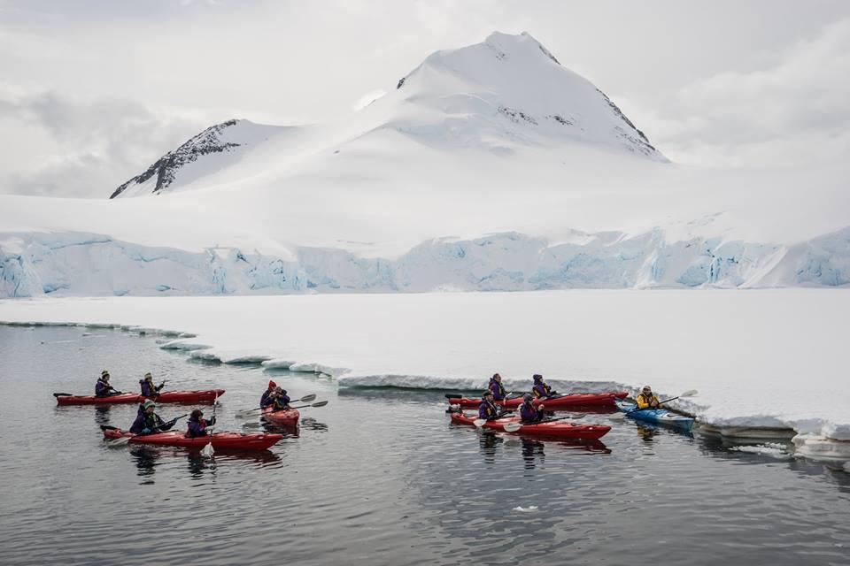 On kayaks