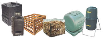 various types of compost bins