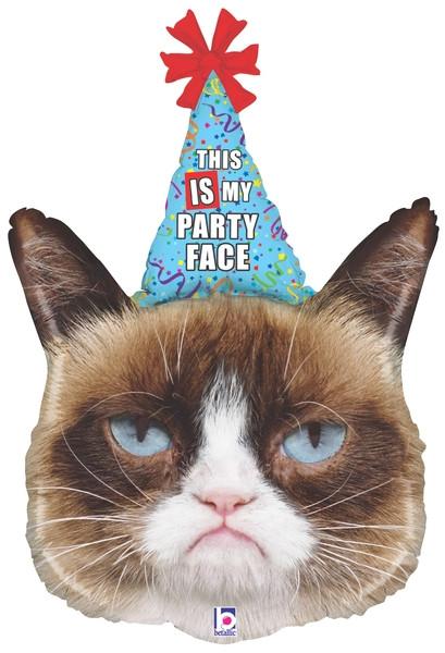 Grumpy Cat's party face