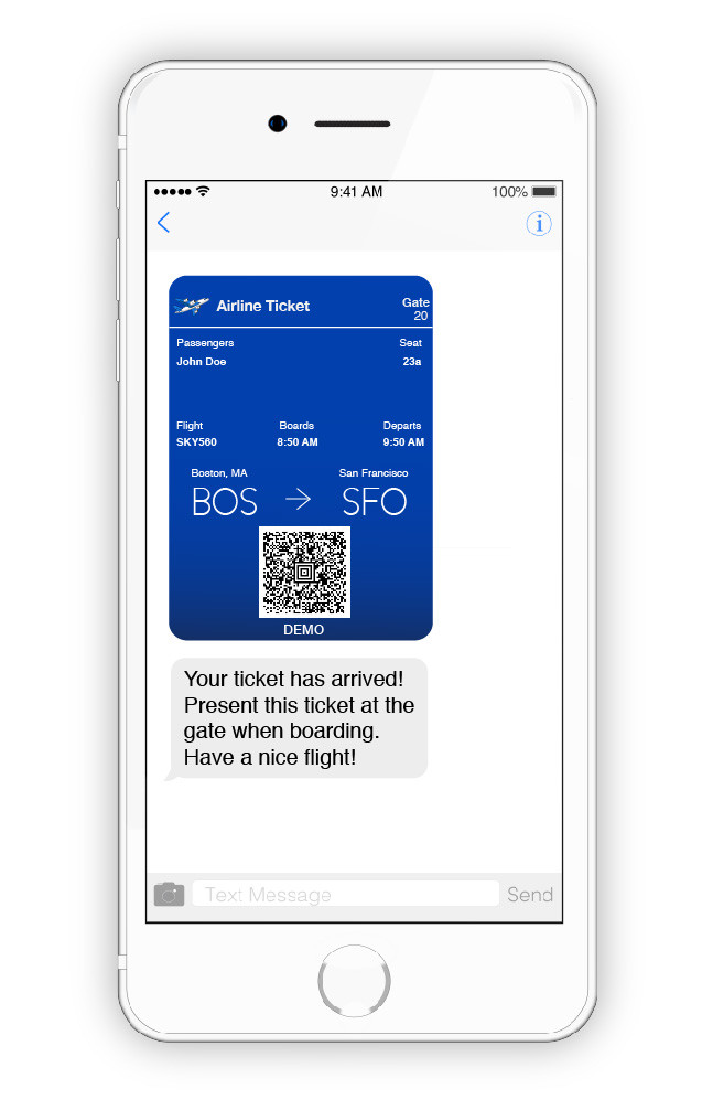 digital ticket on your phone