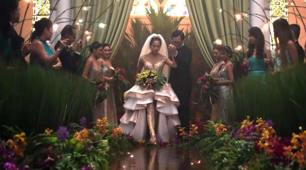 Crazy Rich Asians wedding scene