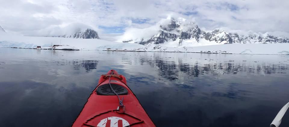Kayak front seat view