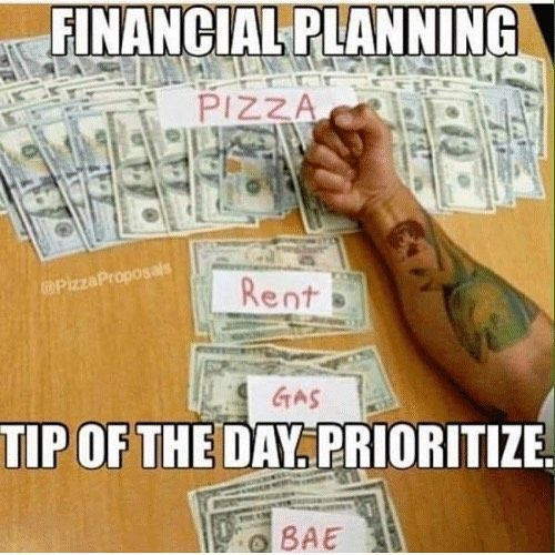 Prioritize pizza