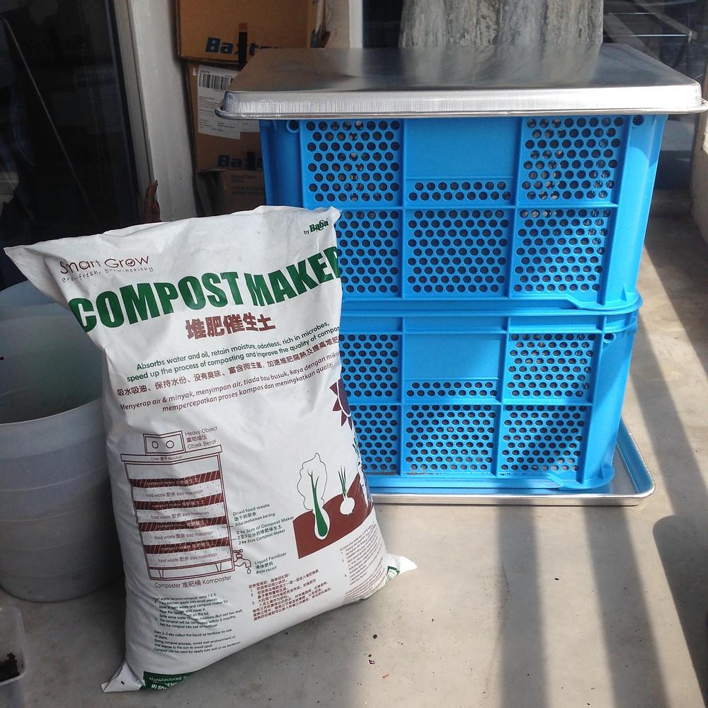 Compost bin condominium apartment setup