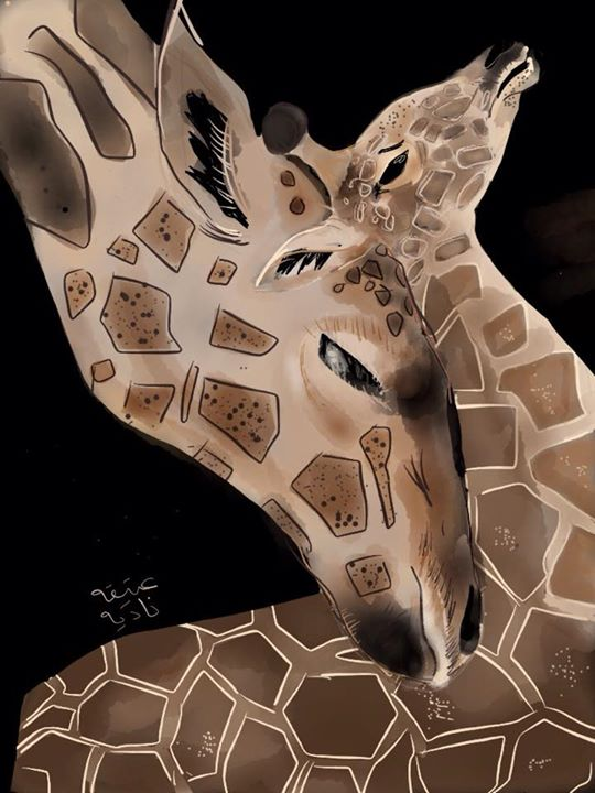 ANZ Studio Mother Baby Giraffe