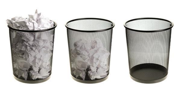 Dwindling trash