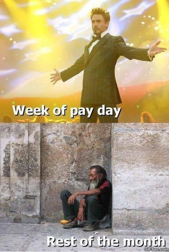 pay day vs the rest of the month