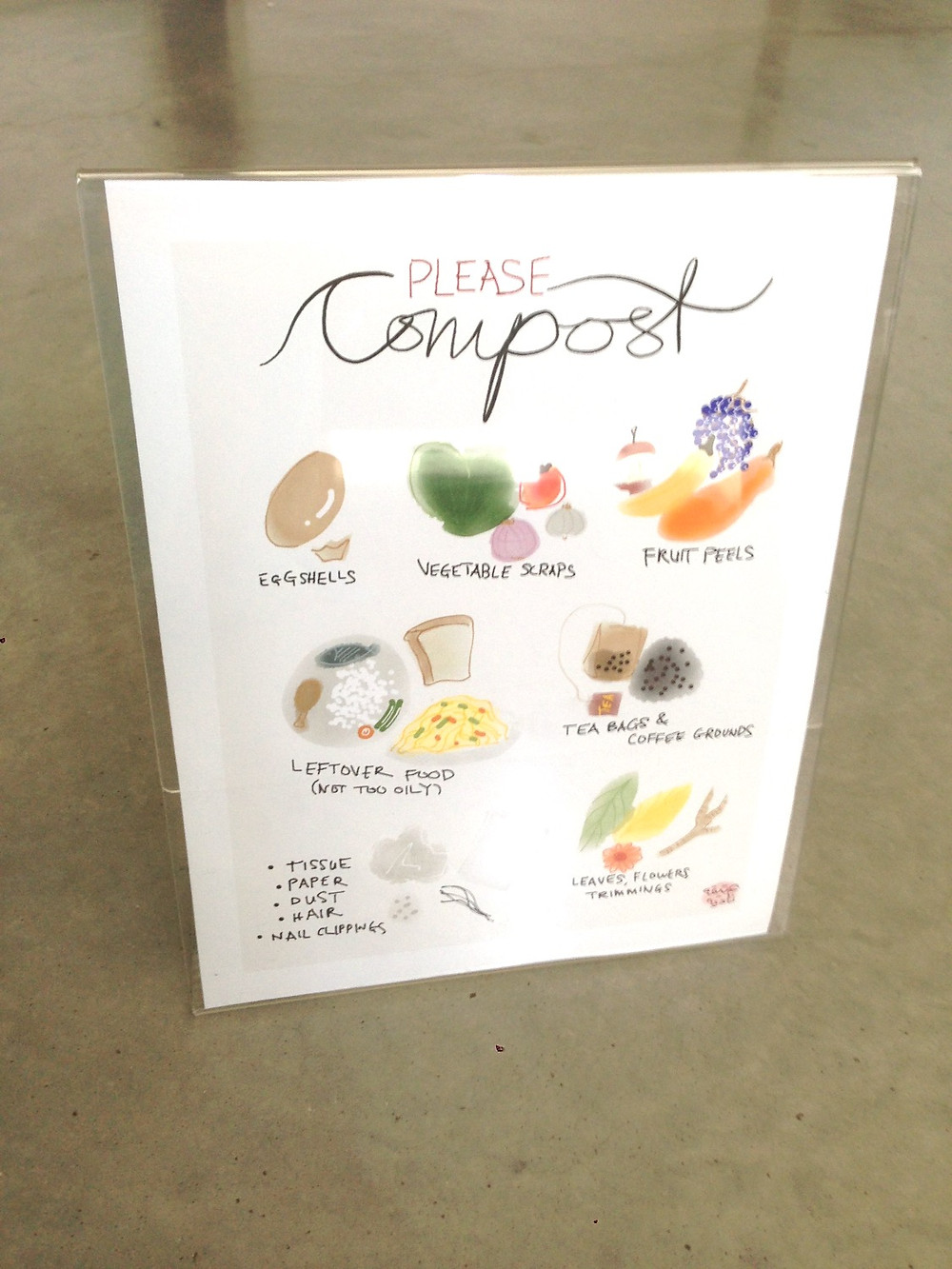 please compost sign