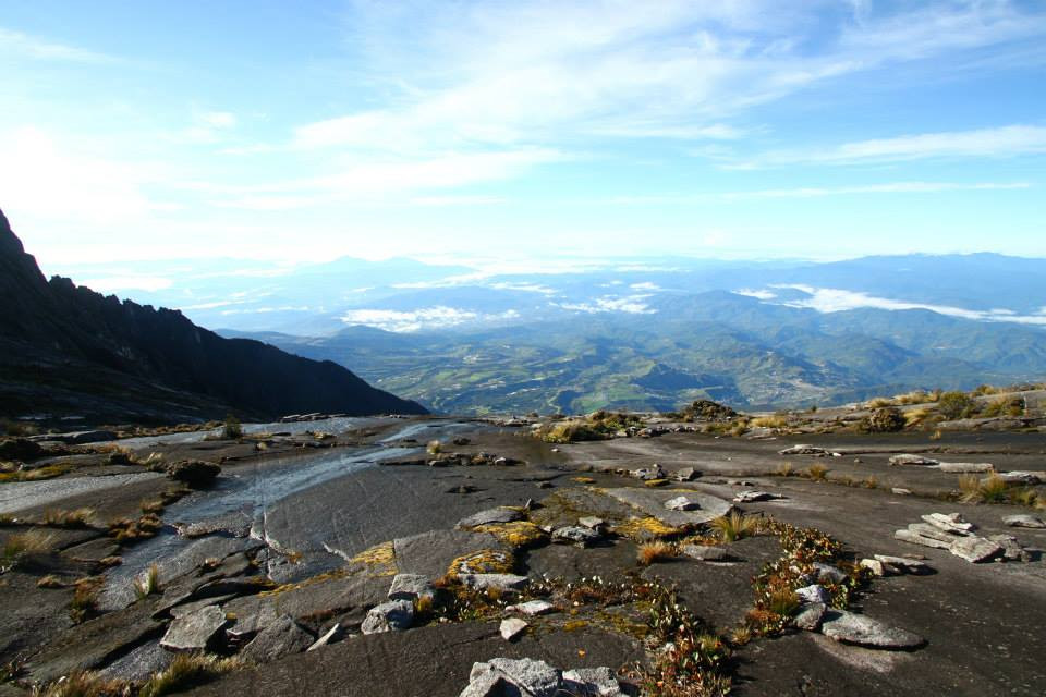 Mount Kinabalu view from the top