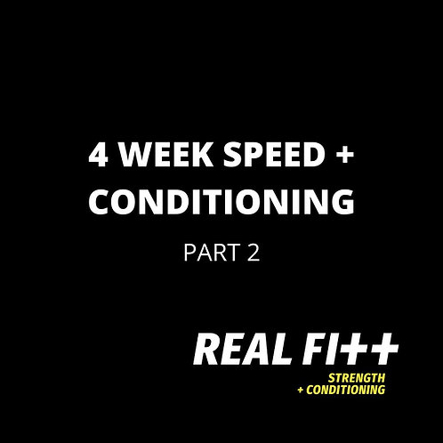 4 Week Speed & Conditioning Program - Part 2