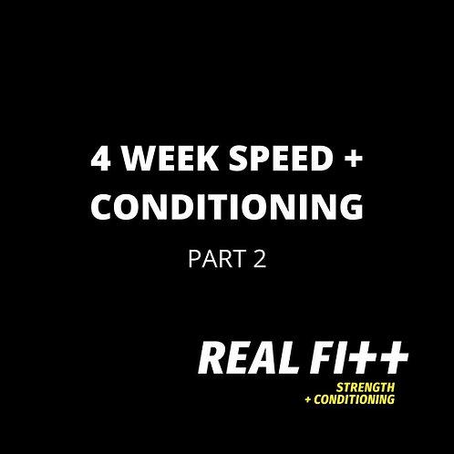 4 Week Speed & Conditioning Program - Part 2