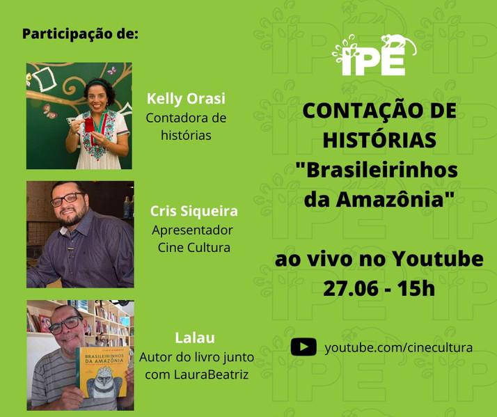 IPÊ e Cinecultura promovem contação de histórias online sobre bichos da Amazônia