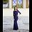 Ingrid, blaues Abendkleid, Vorderansicht